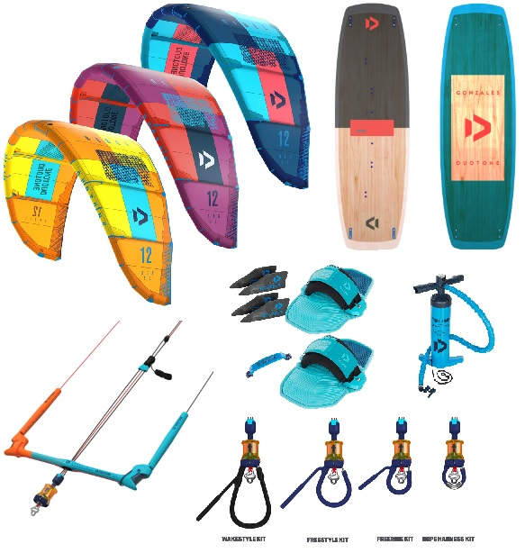 Duotone 2019 Rebel + Gonzales Kitesurf Package Deal