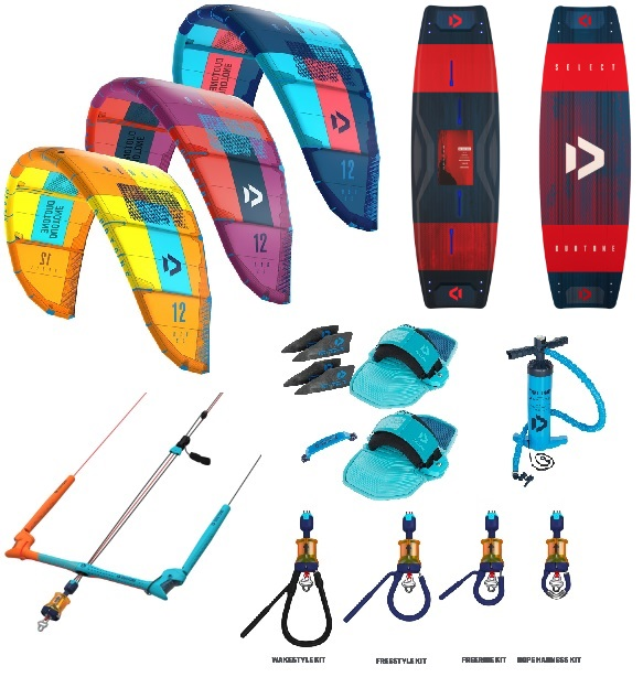 Duotone 2019 Rebel + Select Kitesurf Package Deal