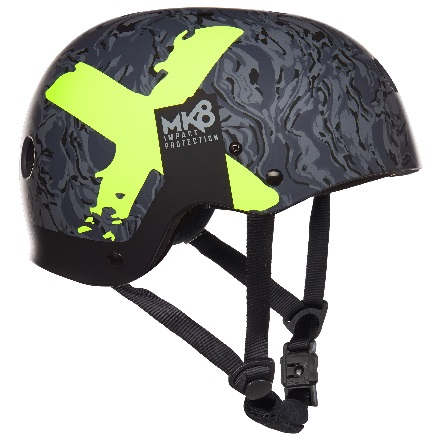 Mystic MK8 X Kiteboard / Wake Safety Helmet Navy/Lime