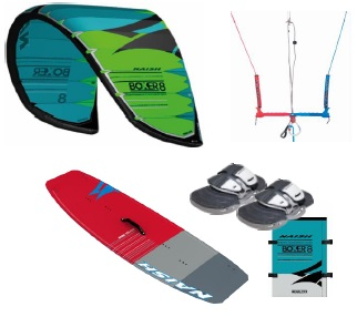 Naish Boxer + Hero Twintip Kitesurf Package Deal
