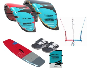 Naish Triad + Hero Twintip Kitesurf Package Deal