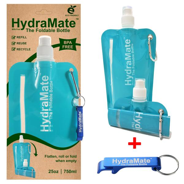 Hydramate Reusable 750ml water pouch - Blue