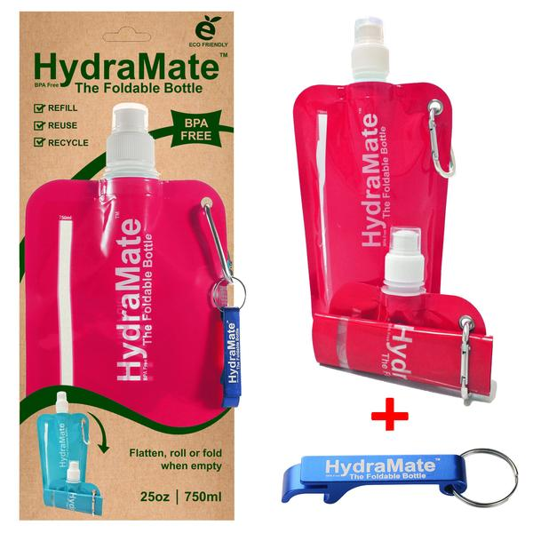 Hydramate Reusable 750ml water pouch - Pink