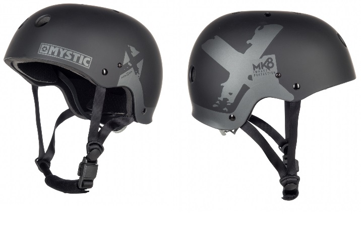 Mystic MK8 X Kiteboard / Wake Safety Helmet Black