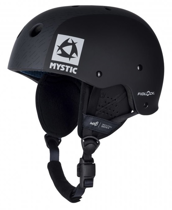Mystic MK8 X Kiteboard / Wake Safety Helmet Black Grey