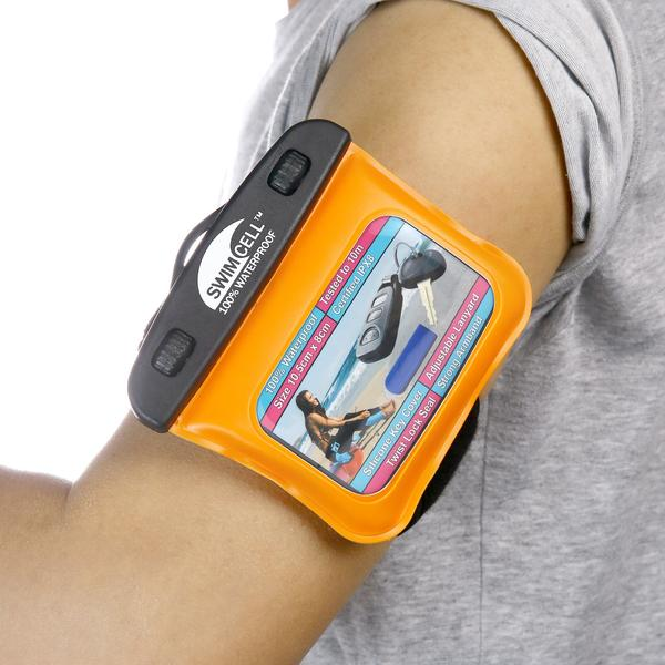 Swimcell 100% Waterproof Phone Armband Case for Keys etc