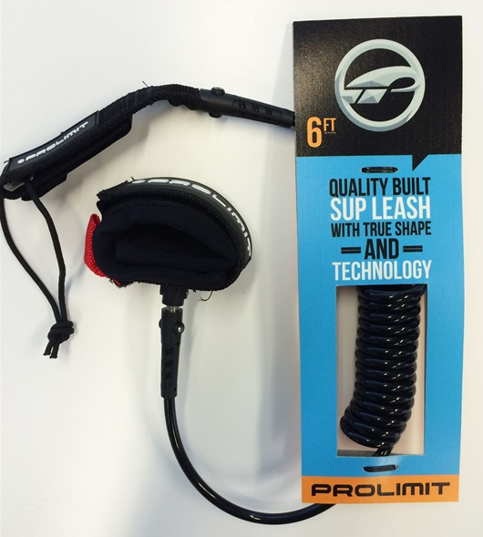 Prolimit Coiled Sup Leash Double Swivel