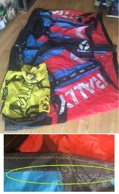 S/H Slingshot Rally 2014 6m Kite Only