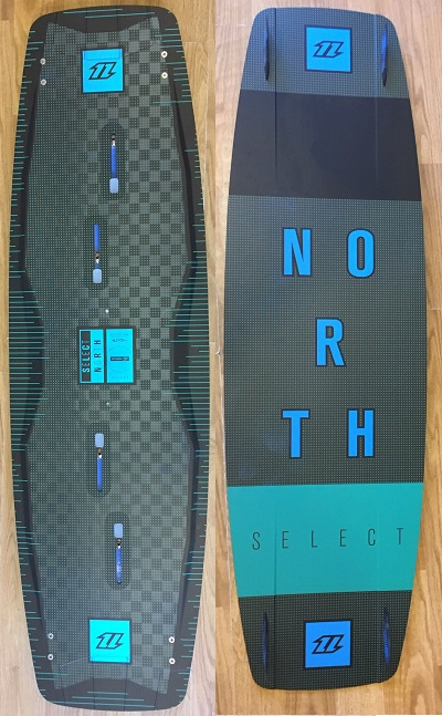 S/H North 2018 Select 132cm Deck & Fins Only